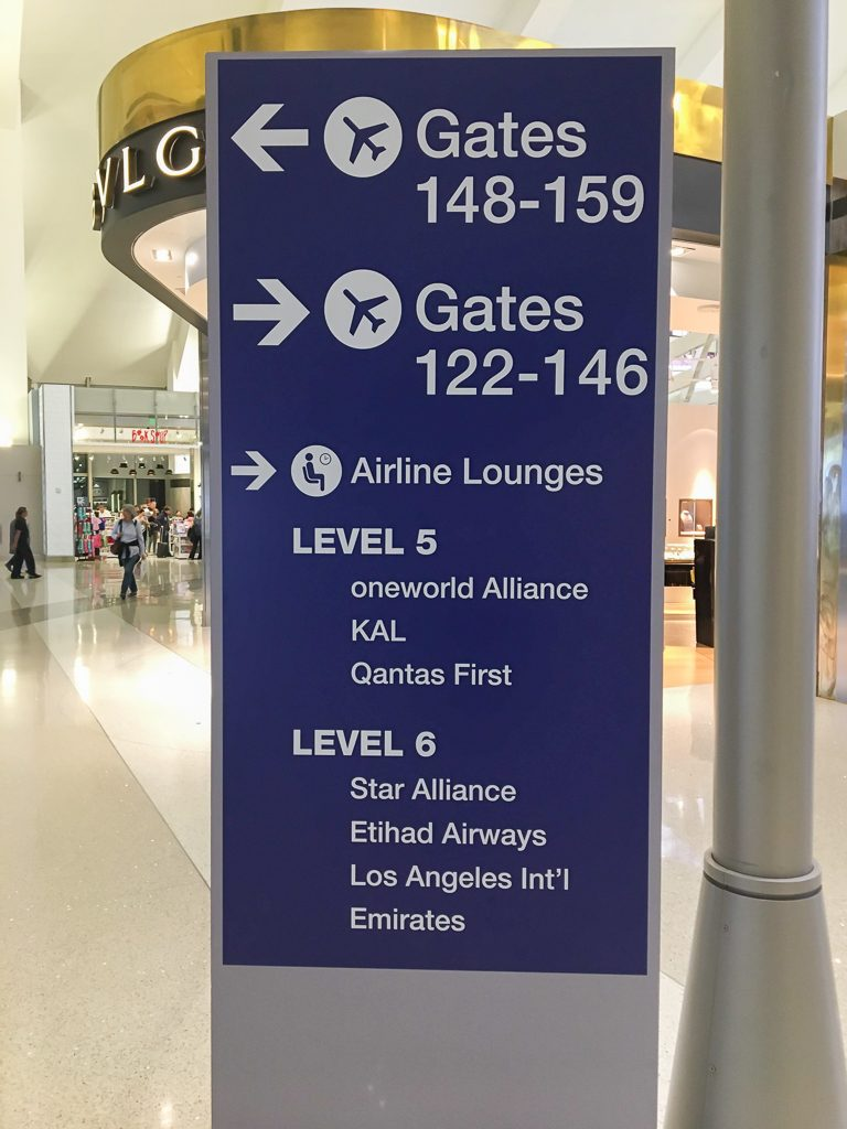 star alliance lax-lounge-signage