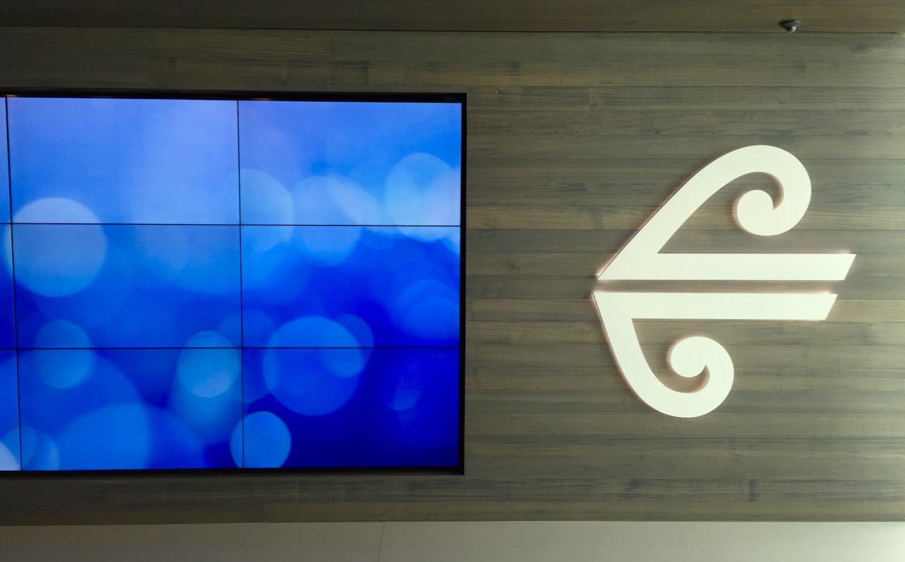 Air New Zealand Auckland International Lounge Entrance
