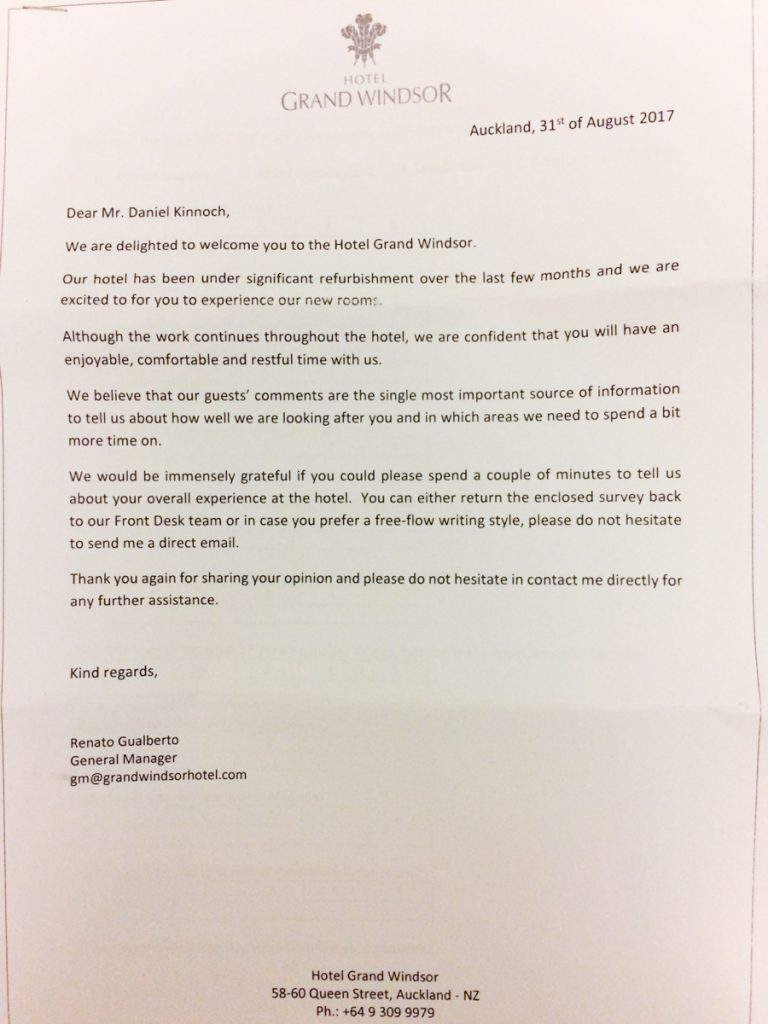 Hotel Welcome Letter From General Manager 2018 World S