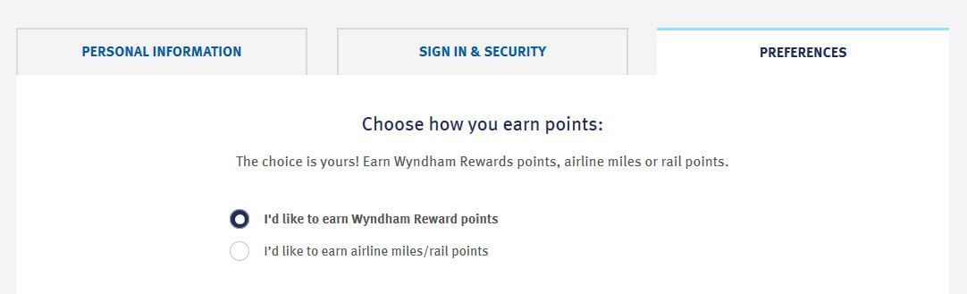 Wyndham Profile Page
