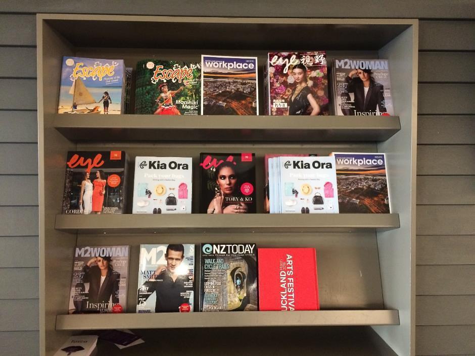 Air New Zealand Auckland Domestic Lounge magazine rack