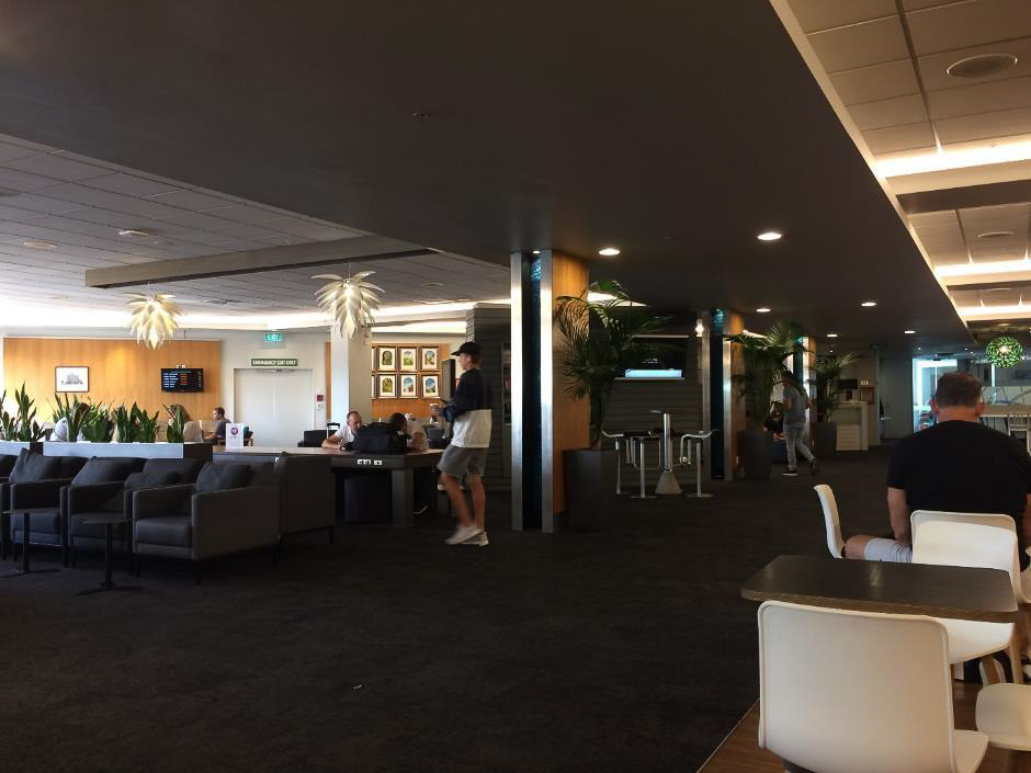 Air New Zealand Auckland Domestic Lounge seating area
