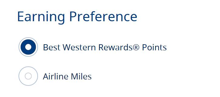 Earning Preference Screenshot