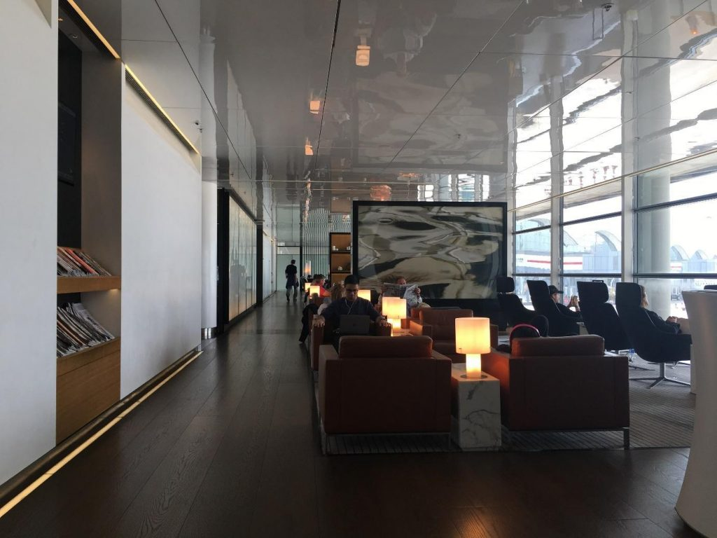 Cathay Pacific The Bridge seating area