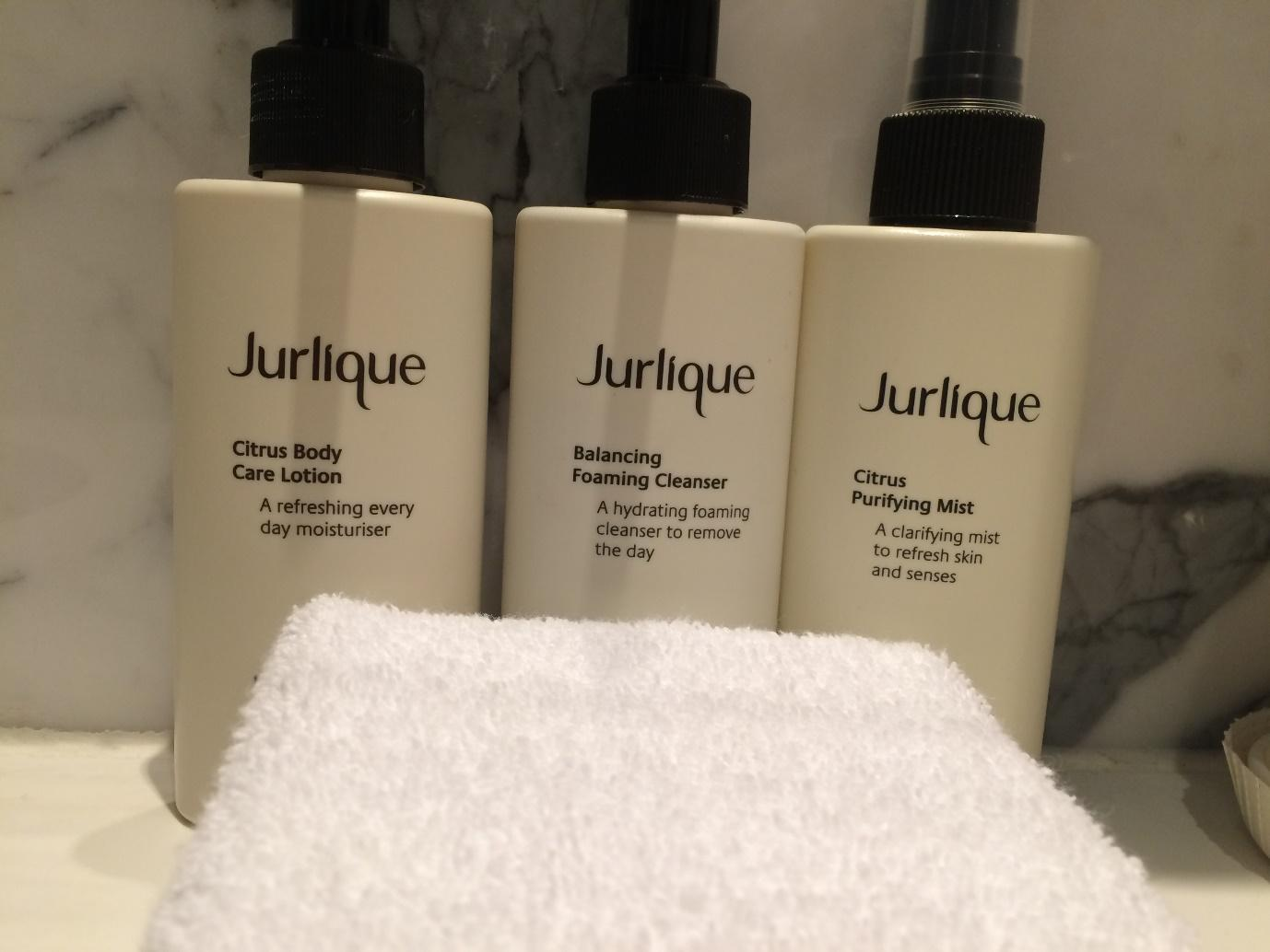 Cathay Pacific The Bridge Jurlique toiletries