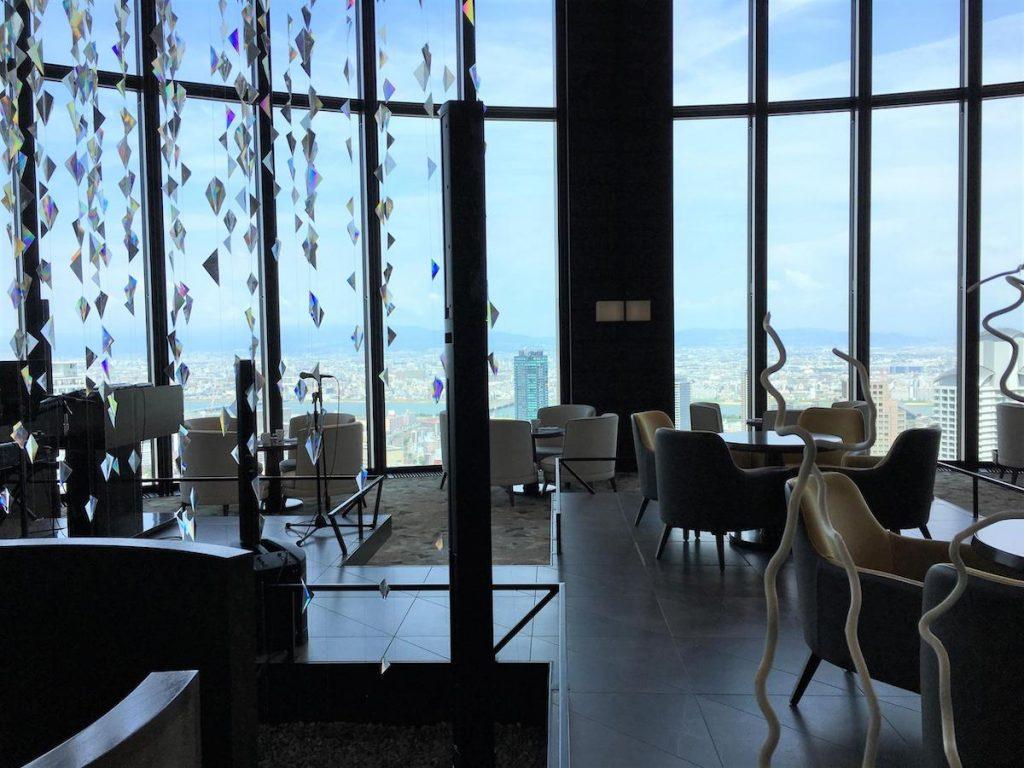 Conrad Osaka lobby seat area