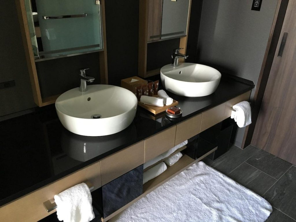 Conrad Osaka King Executive Room bathroom vanities