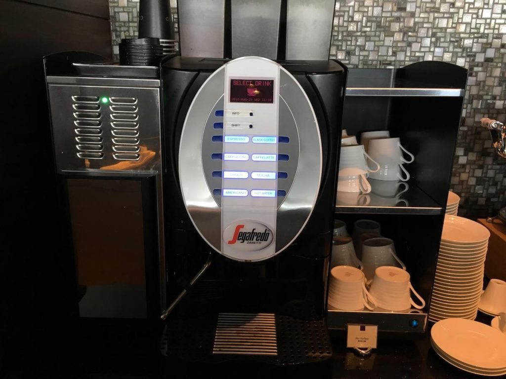 Conrad Osaka Executive Lounge Segafredo coffee machine