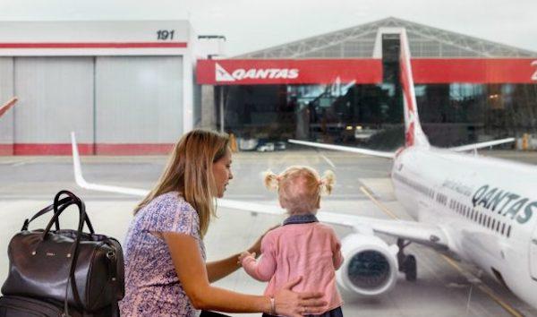 Qantas parent travelling