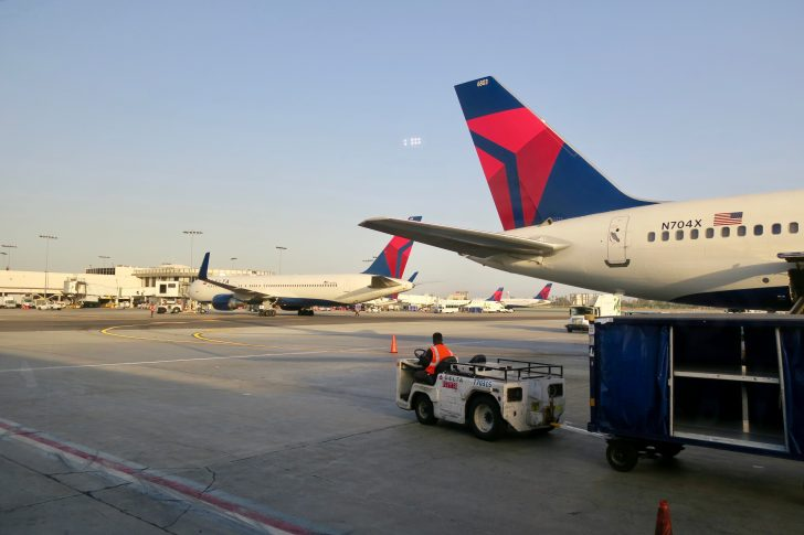 Delta airplanes on tarmac