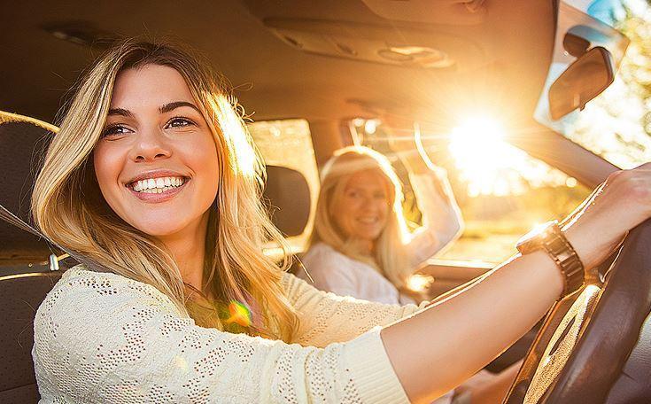Europcar - woman driving