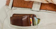 Credit Cards and money on back pocket