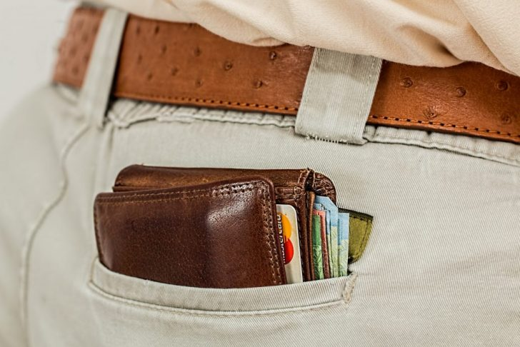Credit Cards and money on back pocket
