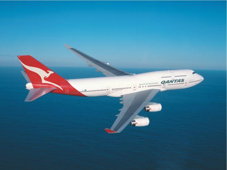 Qantas 747 flight