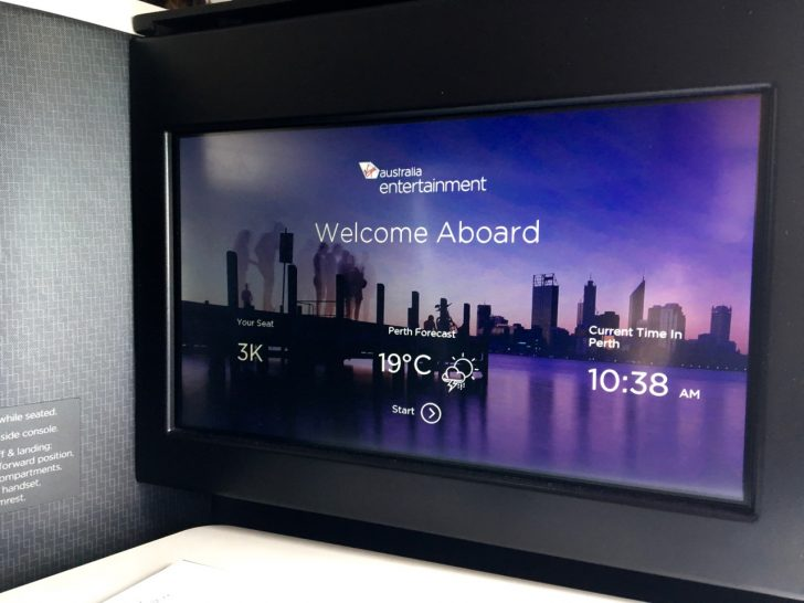 Virgin Australia A330 IFE Screen