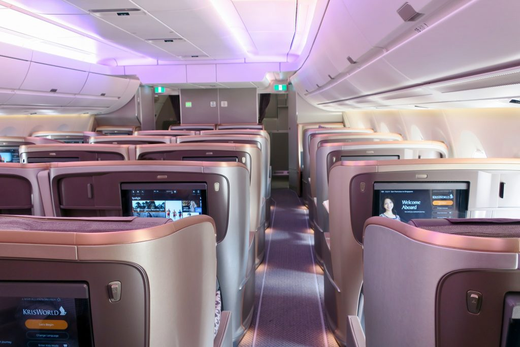 A350 Business Class Singapore Airlines