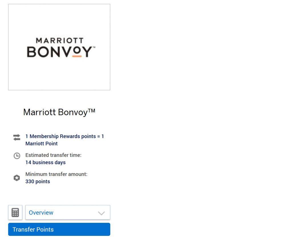 Marriott Bonvoy American Express Transfer Partner